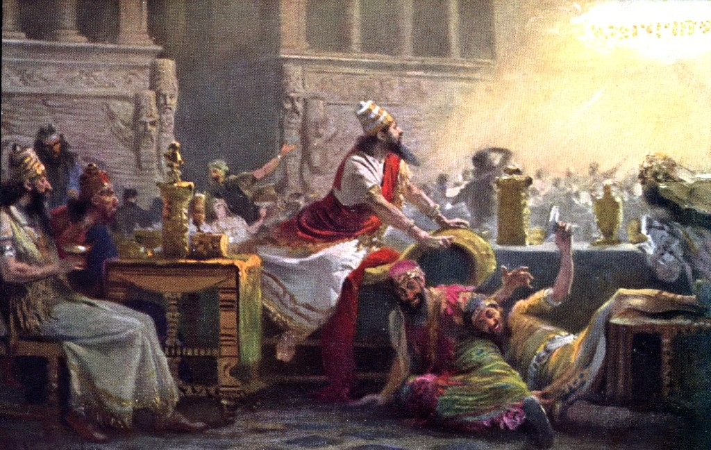 27005005 RLW Daniel 5 5 Belshazzars feast 1